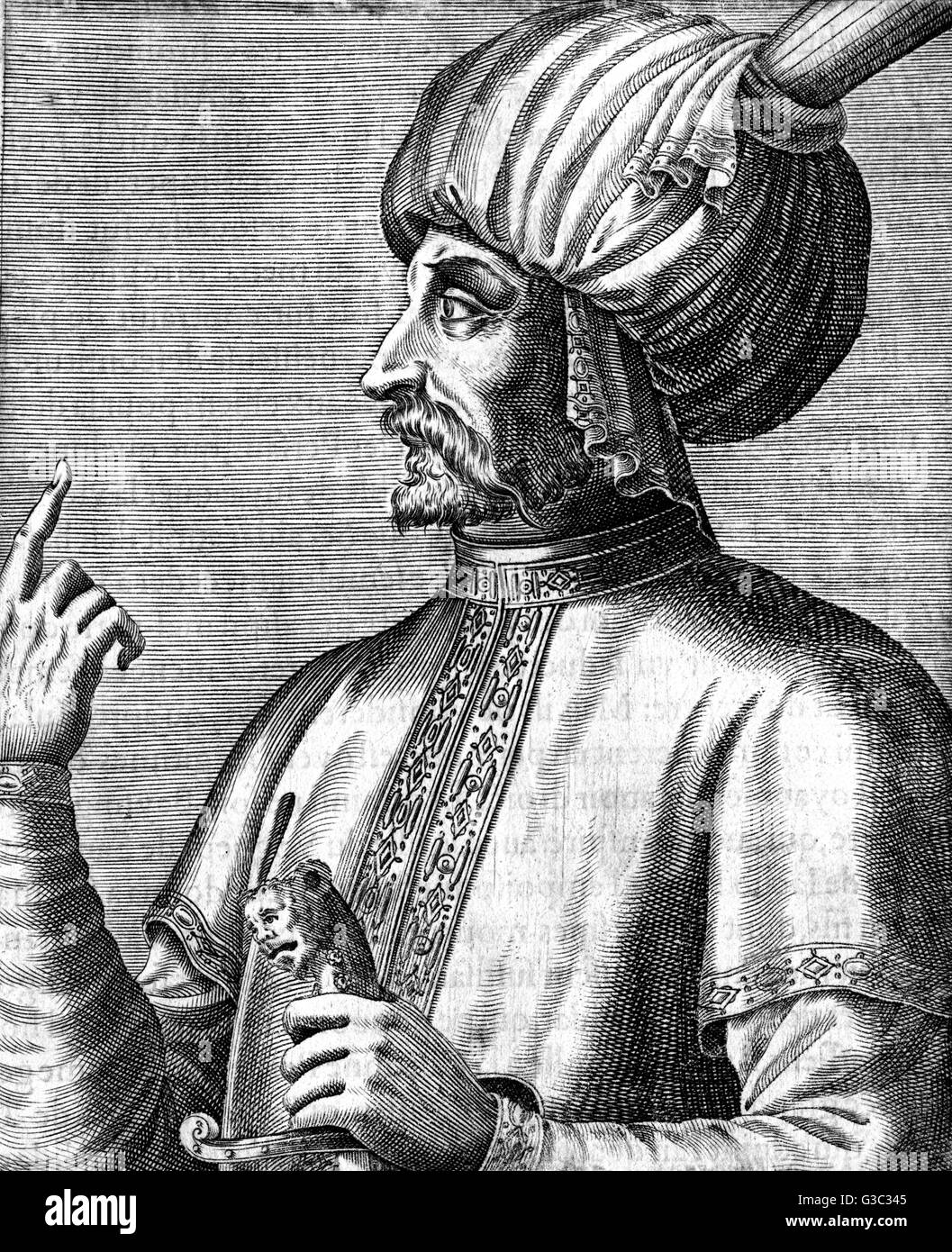 Ismail (1634-1727), Persian Royalty, he was the second ruler of the Moroccan Alaouite dynasty     Date: circa 17th - Stock Image