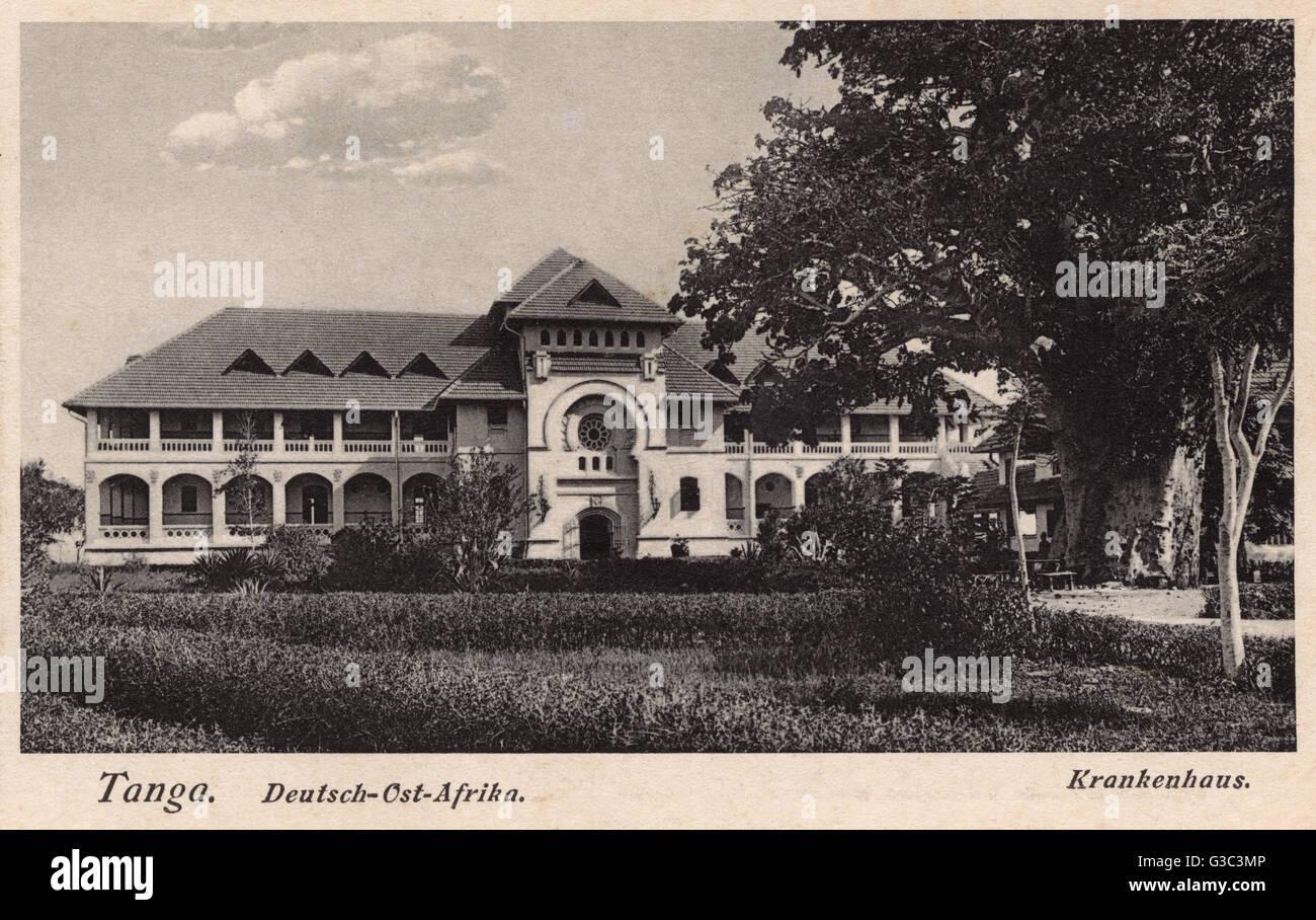 Hospital in Tanga, German East Africa (now Tanzania). Date Stock ...