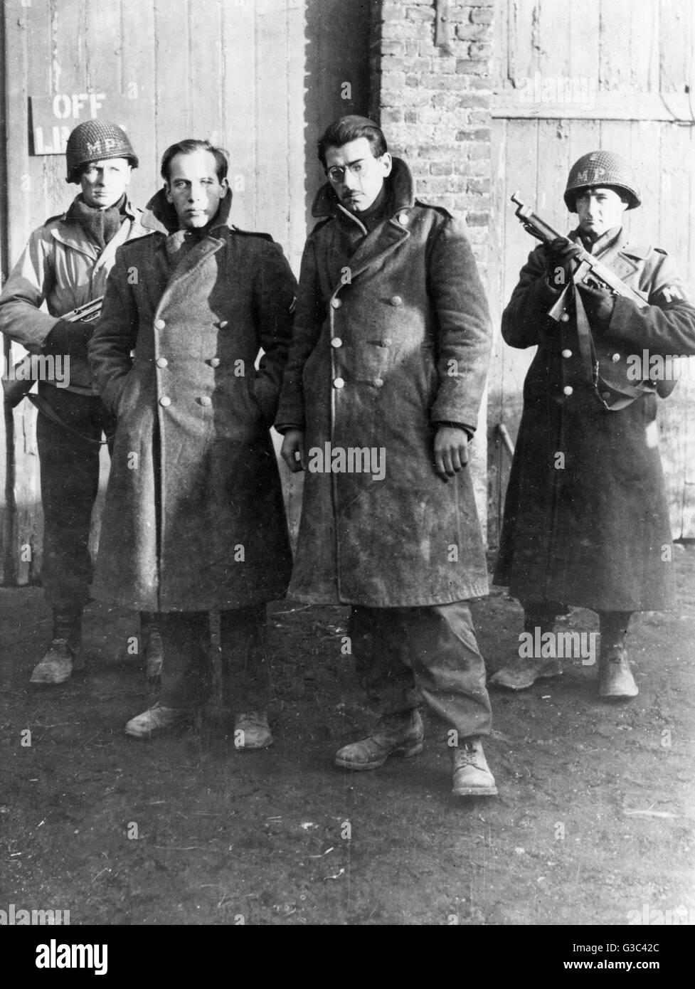 Two Captured German S S Soldiers From The Command Of Otto