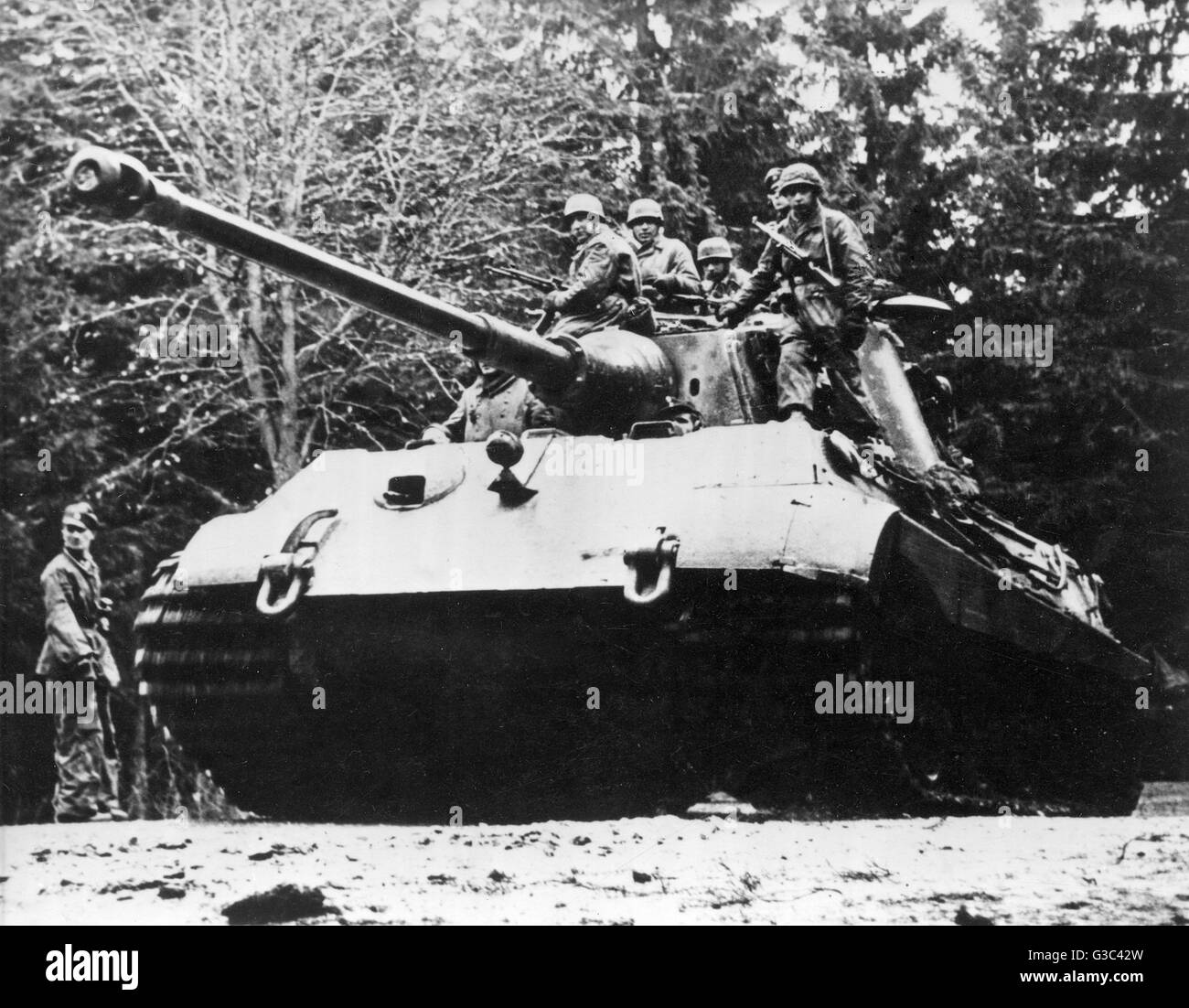 Panzer tank stock photos panzer tank stock images alamy a german panzer tank pictured during the ardennes counter offensive which became known as publicscrutiny Gallery