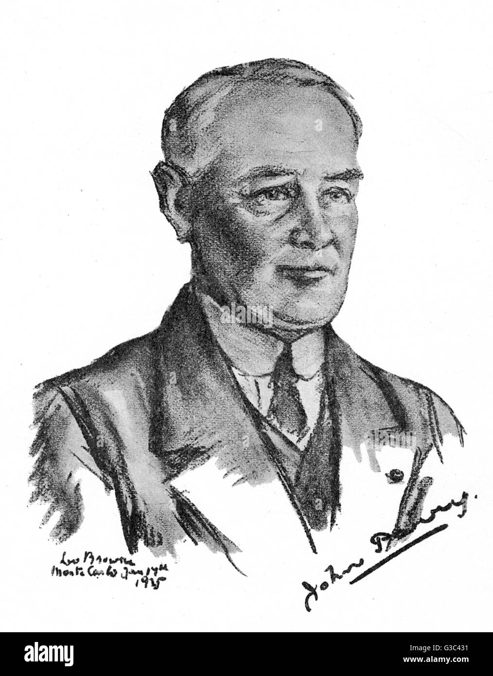 Rear Admiral (described here as Vice Admiral) Sir John Parry, hydrographer of the Royal Navy during the First World - Stock Image