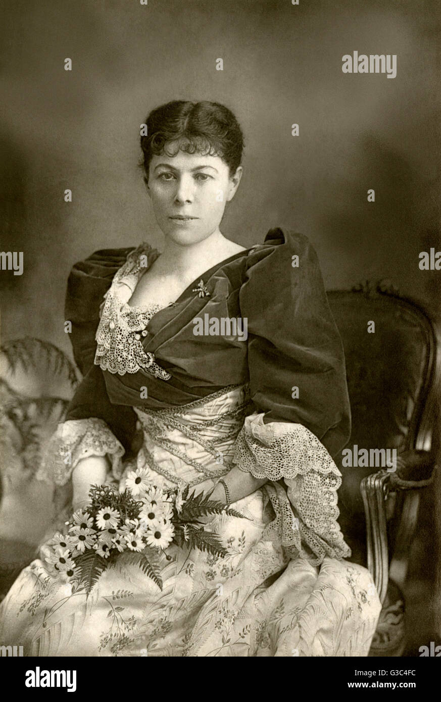 "Frances ""Fanny"" Whiteside Brough (1852-1914), Paris-born British stage actress, is remembered - Stock Image"