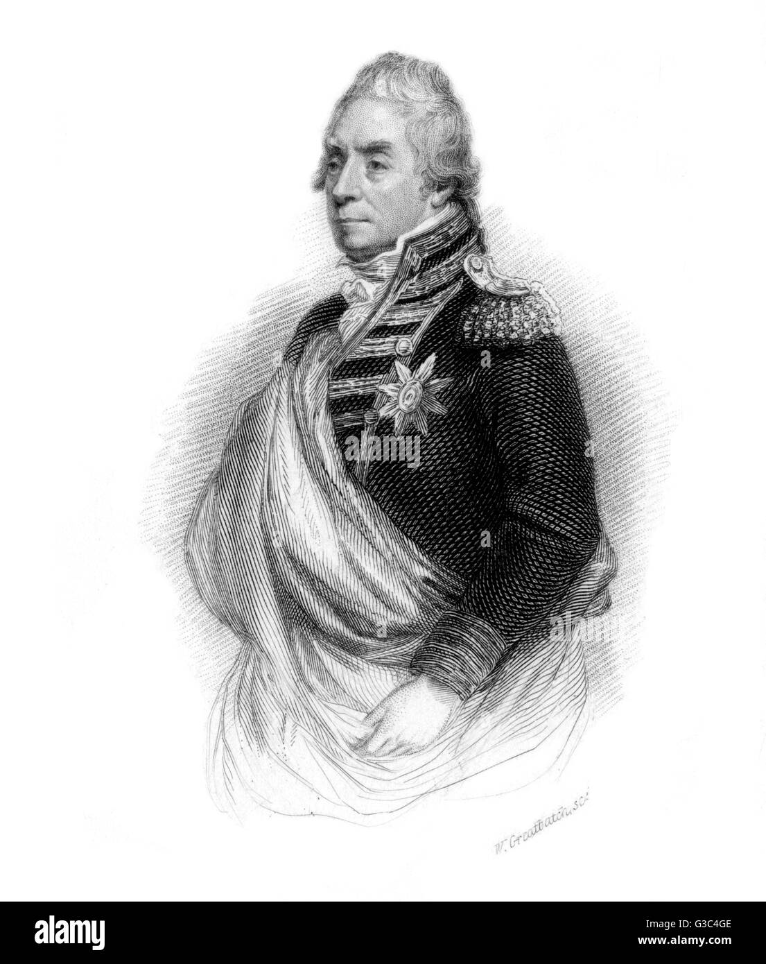 George Keith Elphinstone, 1st Viscount Keith (1746-1823), British naval admiral active throughout the Napoleonic - Stock Image