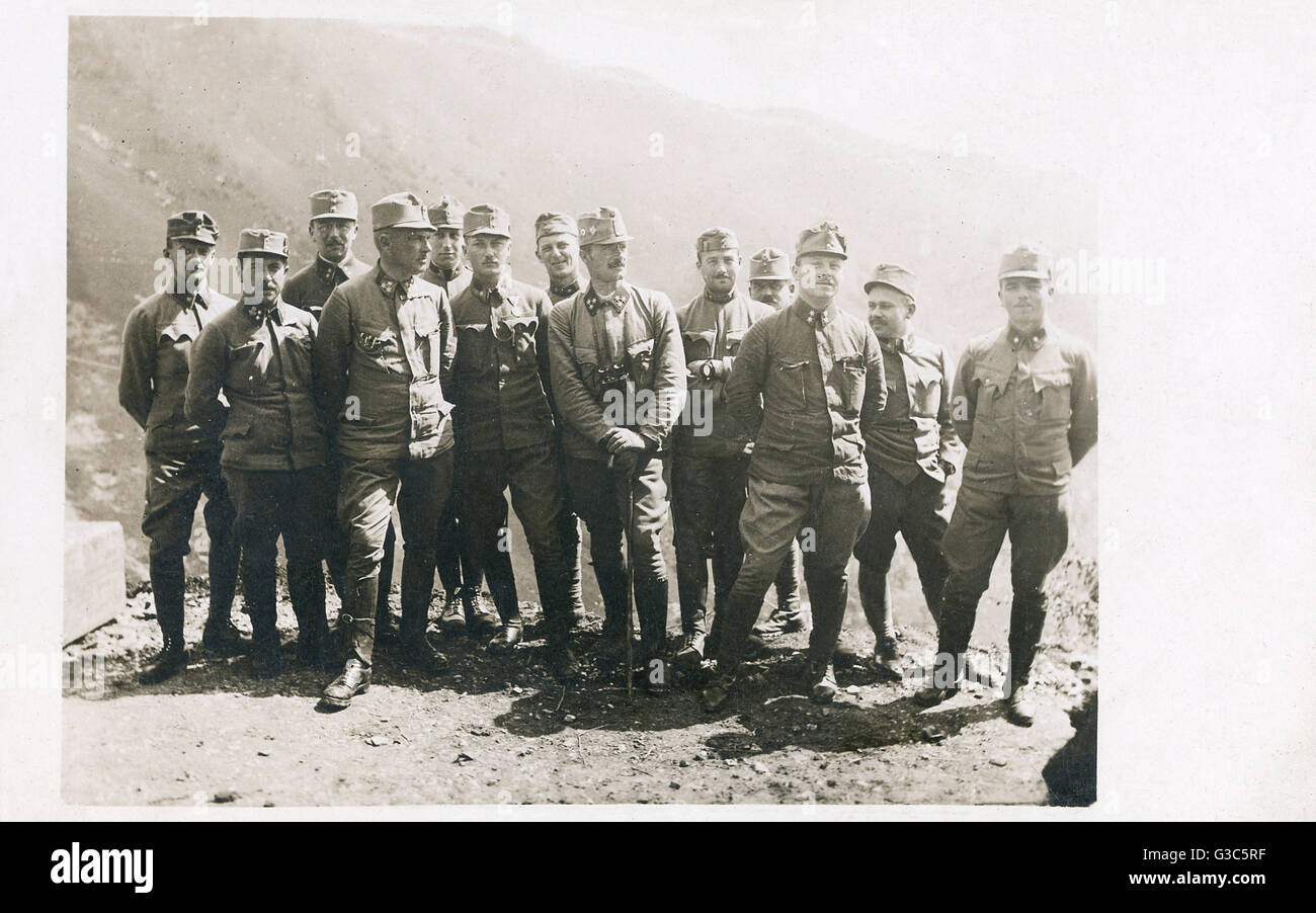 Group photo, Austro-Hungarian army officers, First World War.      Date: 1914-1918 - Stock Image
