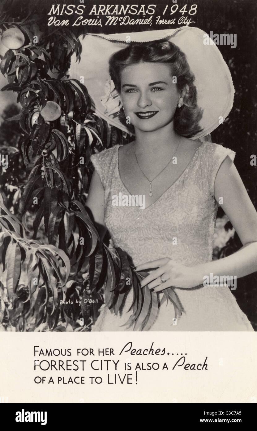 Van Louis McDaniel (1929-1987) of Forrest City, Miss Arkansas for 1948.      Date: 1948 - Stock Image