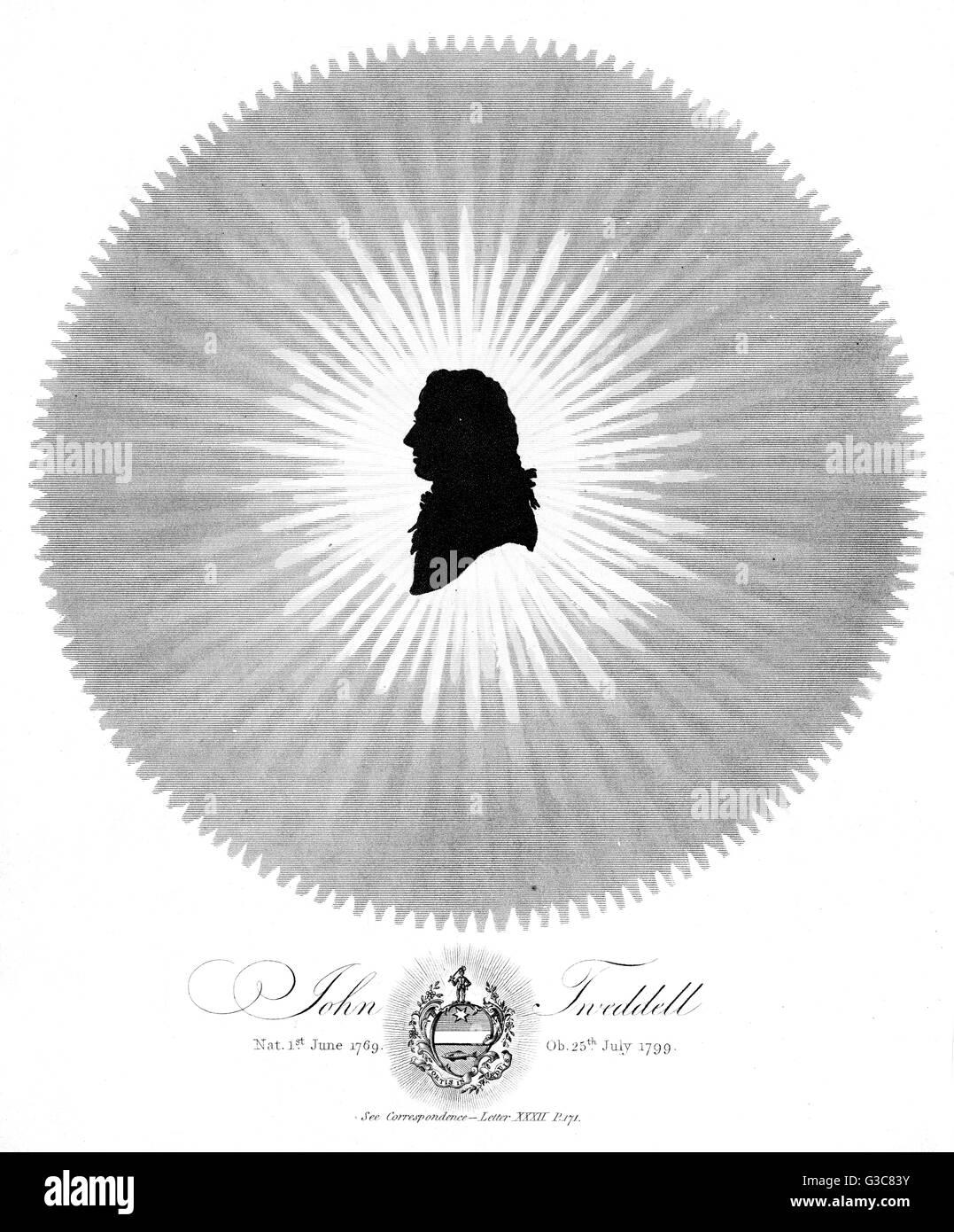 JOHN TWEDDELL scholar         Date: 1769 - 1799 - Stock Image