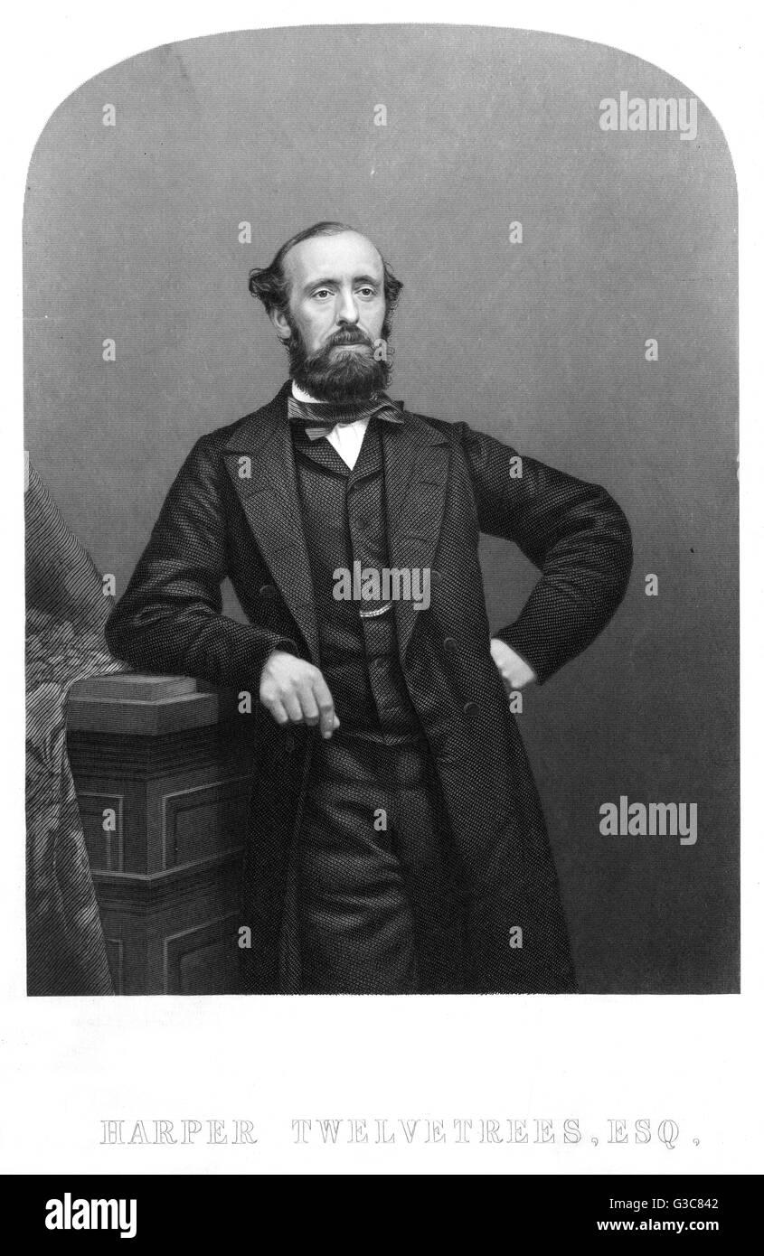 HARPER TWELVETREES London manufacturer who edited  the life of American fugitive  slave John Anderson.       Date: - Stock Image