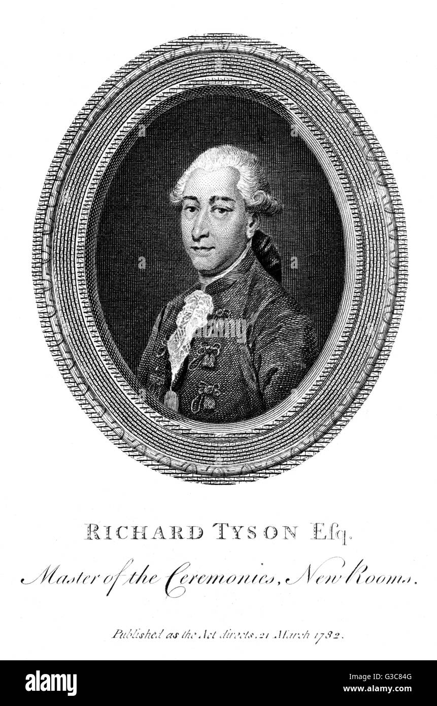 RICHARD TYSON Master of the Ceremonies in  the New Rooms at Bath.        Date: 1735 - 1820 - Stock Image