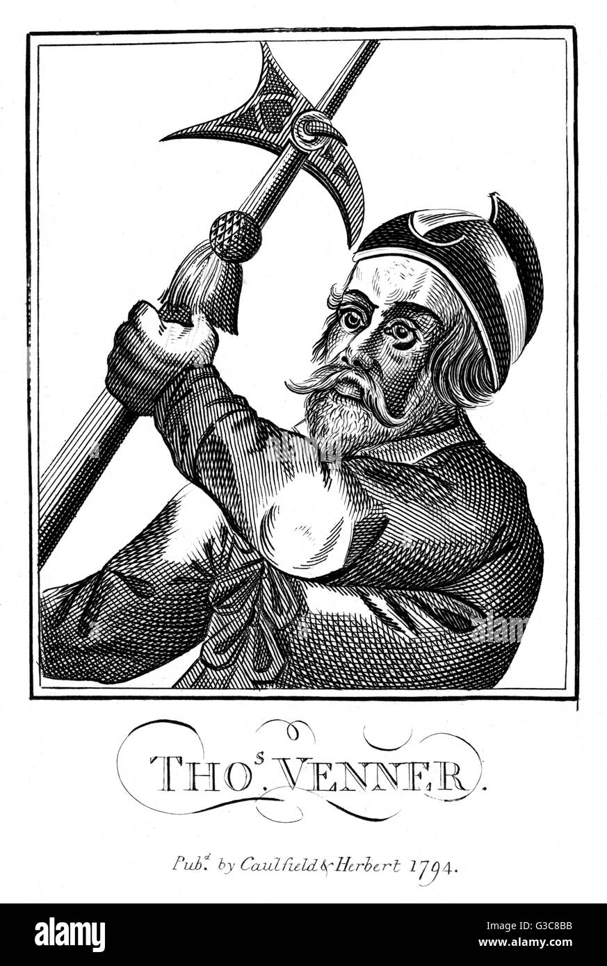THOMAS VENNER religious enthusiast and  conspirator        Date: ? - 1661 - Stock Image