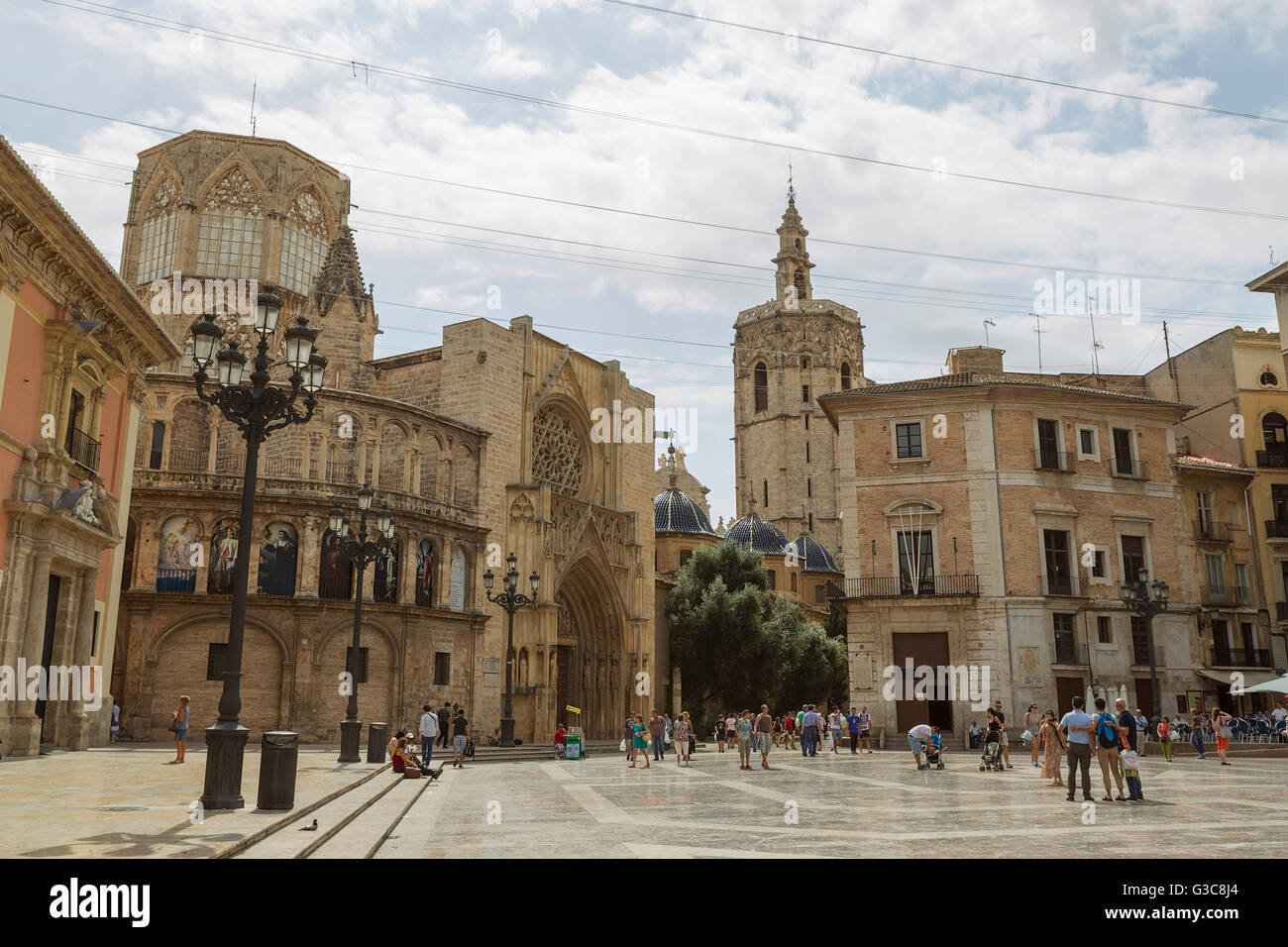 El Micalet Tower. Cathedral. valencia. Spain Stock Photo