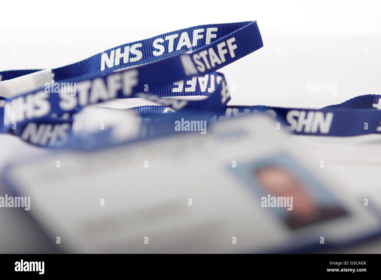 NHS staff employee badge - Stock Image