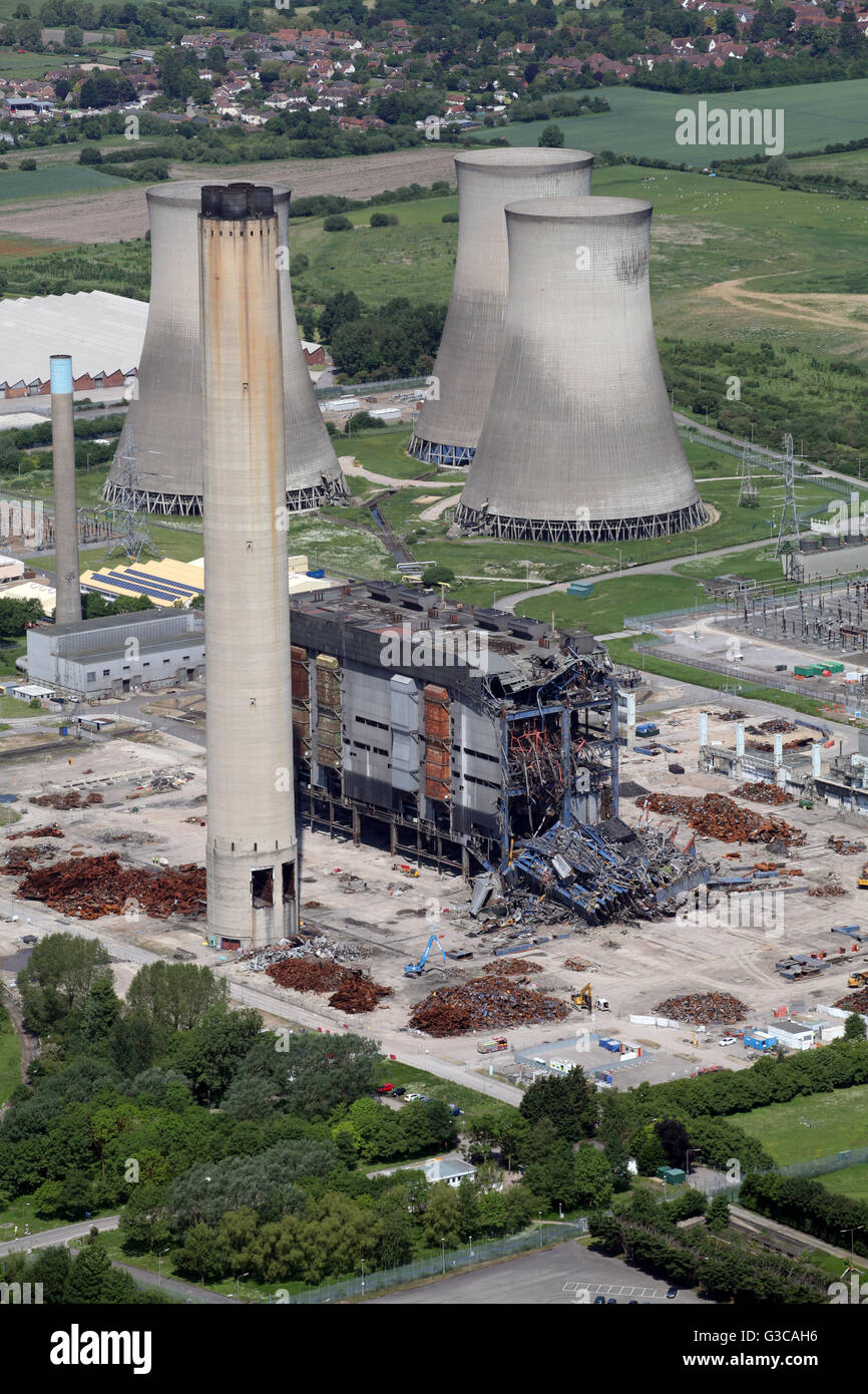 aerial view of Didcot Power Station in Oxfordshire, including the ...
