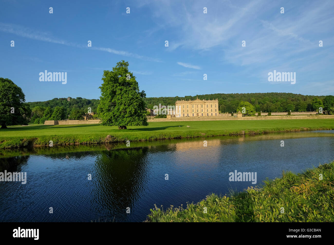 Chatsworth House Derbyshire - Stock Image