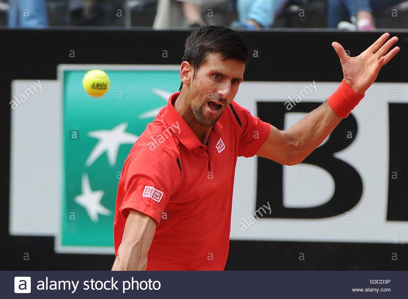 novak djokovic vs stephane robert,interanzionali di tennis bnl d'italia,roma 2016 - Stock Image