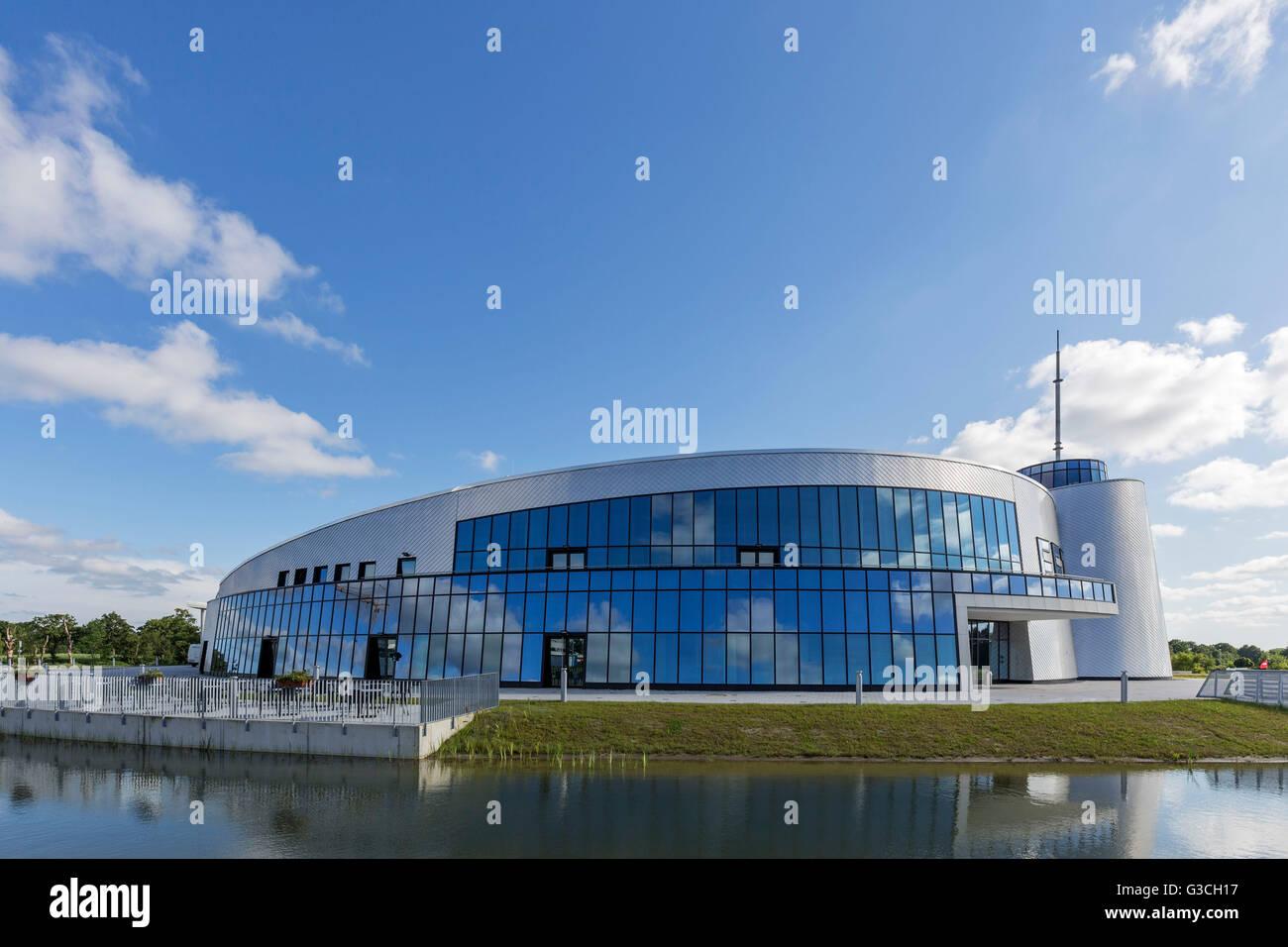 Energie-, Bildungs- und Erlebniszentrum', EEZ, (Energy, education and experience center), Aurich, East Frisia, - Stock Image