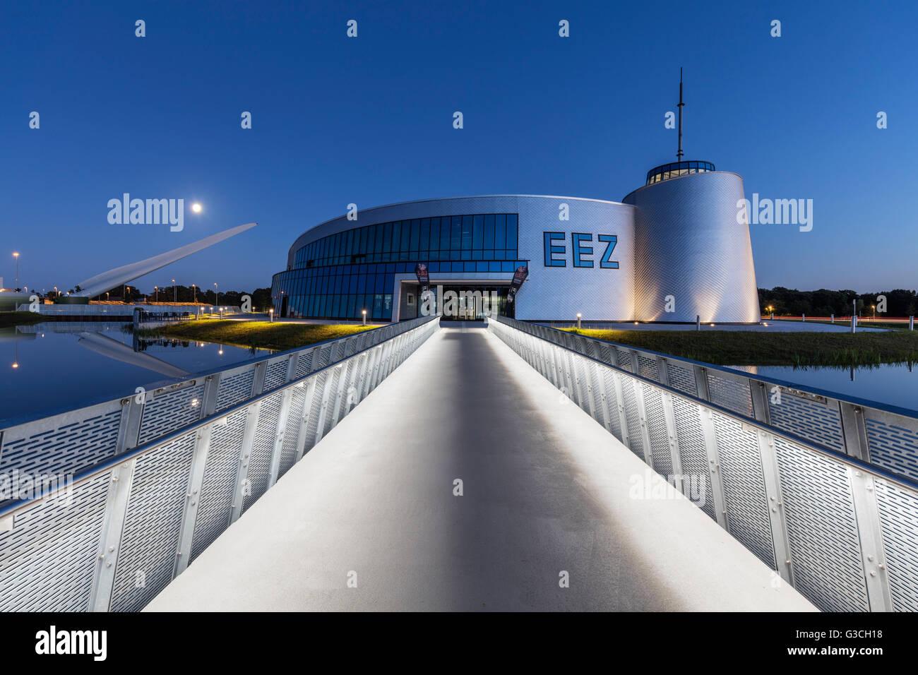 Evening mood, 'Energie-, Bildungs- und Erlebniszentrum', EEZ, (Energy, education and experience center), - Stock Image