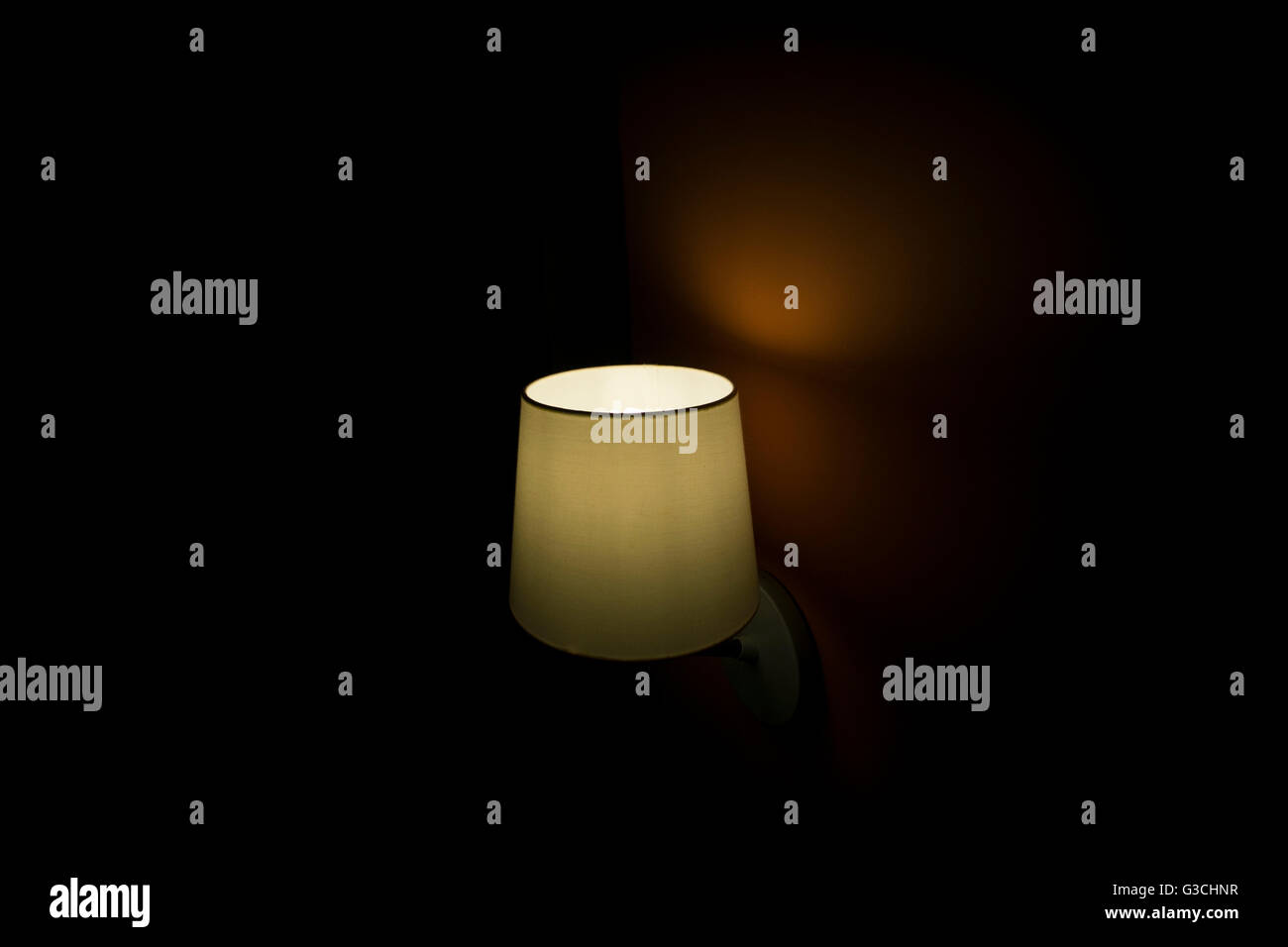 Light in the darkness - Stock Image
