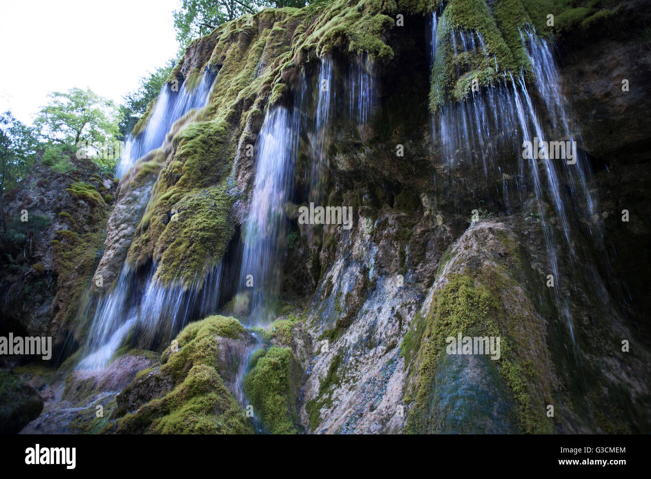Schleier Waterfalls in summer, waterfall, spectacle of nature, experience, moss - Stock Image