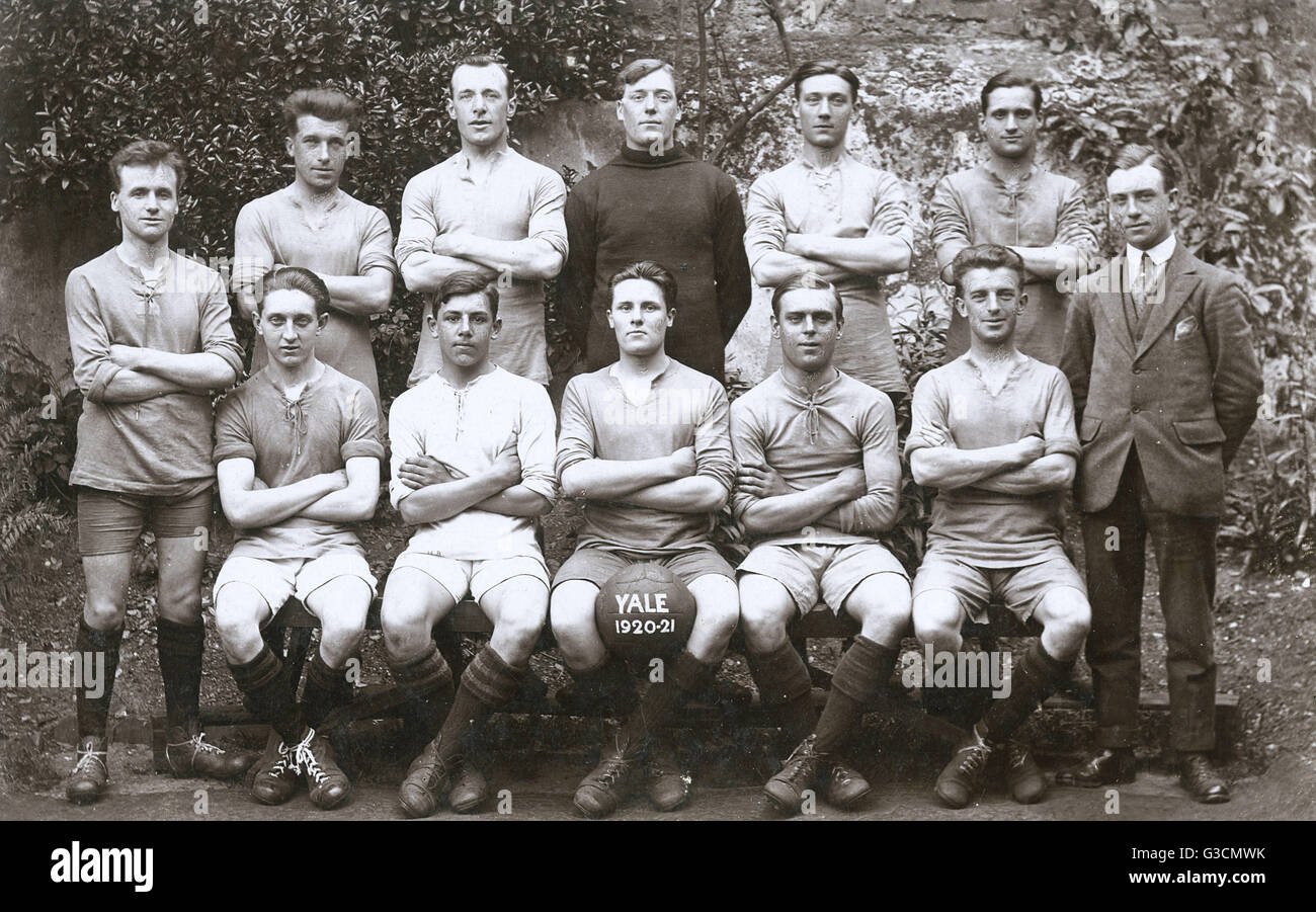 Group Photo Of A Football Team Yale 1920 21 Date Circa 1920