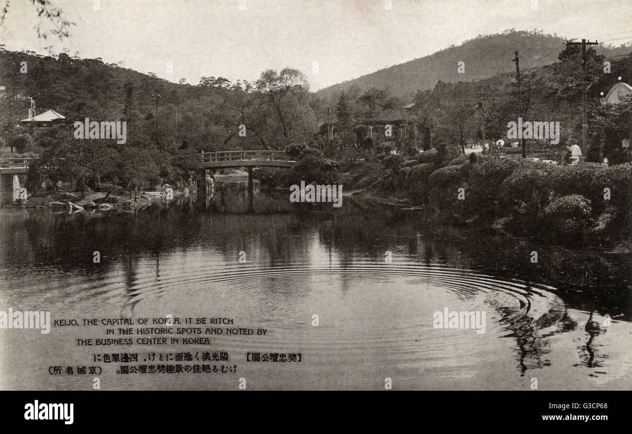 Seoul, Korea - Botanical Gardens     Date: 1930s - Stock Image