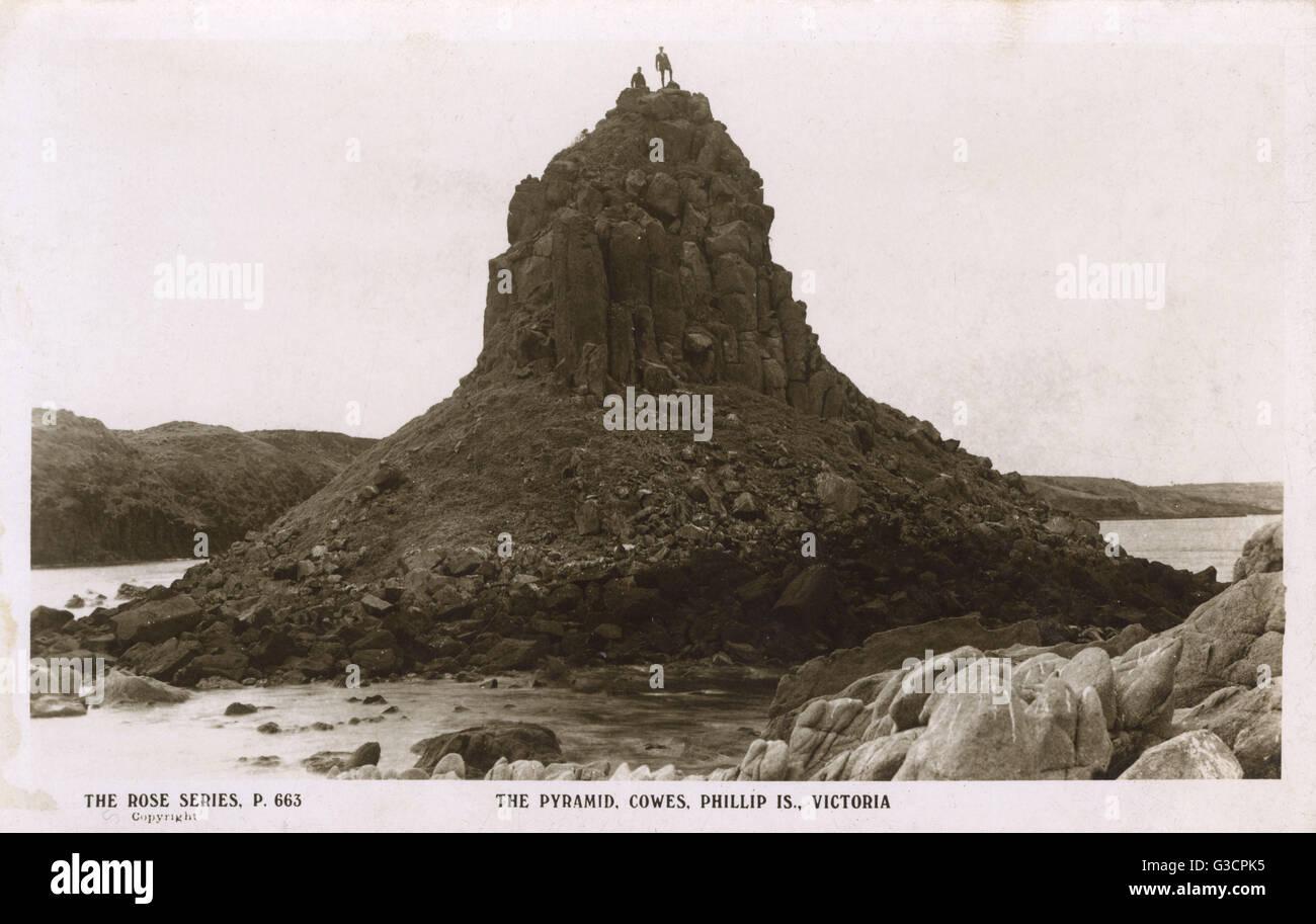 The Pyramid, Cowes, Phillip Island, Victoria, Australia     Date: circa 1930 - Stock Image