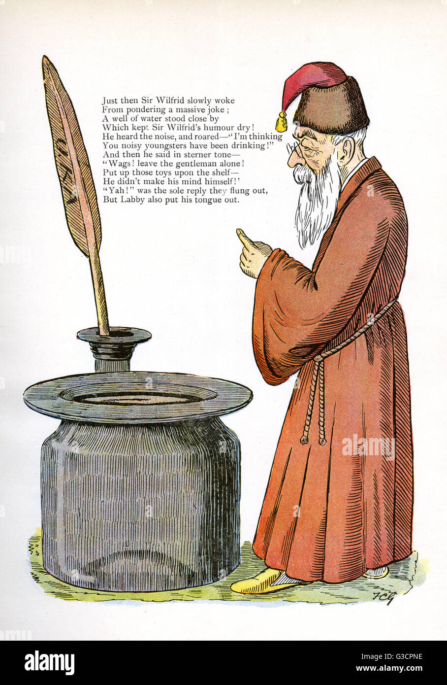 The Story of the Wicked Wags (cont.). Sir Wilfrid Lawson, 2nd Baronet (18291906) an English temperance campaigner - Stock Image
