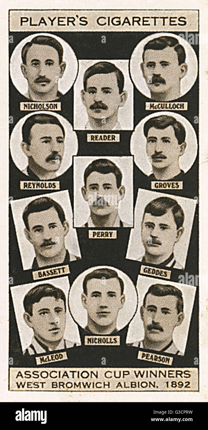 FA Cup winners in 1892, West Bromwich Albion  This FA Cup