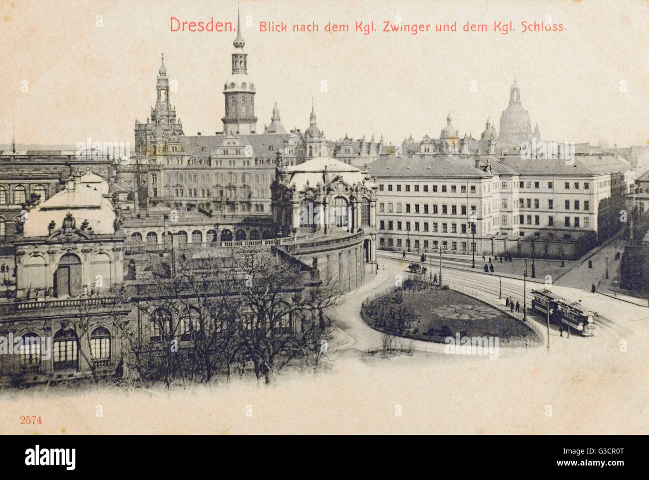 Dresden, Germany - The Zwinger (Dresdner Zwinger) Palace, built in Rococo style and designed by court architect Stock Photo