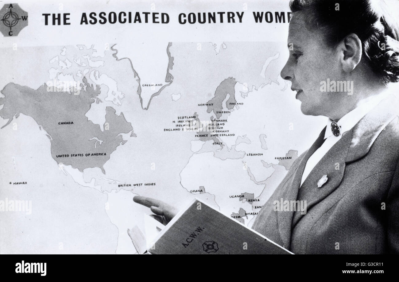 Mrs Geerda Johanna van Beekhoff-van Selms (1913-1998), President of the ACWW - The Associated Country Women of the - Stock Image