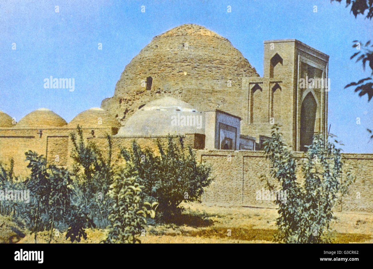 Termez, Uzbekistan - The cult and memorial complex Khakimi at-Termezi developed around the tomb of the scholar and - Stock Image