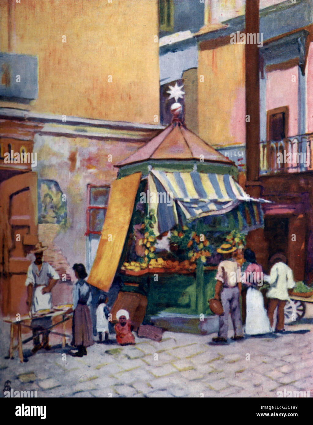 A drink and lemon booth on the marina in Naples. The vendors drive a brisk trade all year round.   1904 - Stock Image