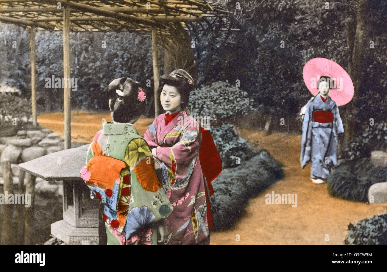 Geisha girl dating with dignity