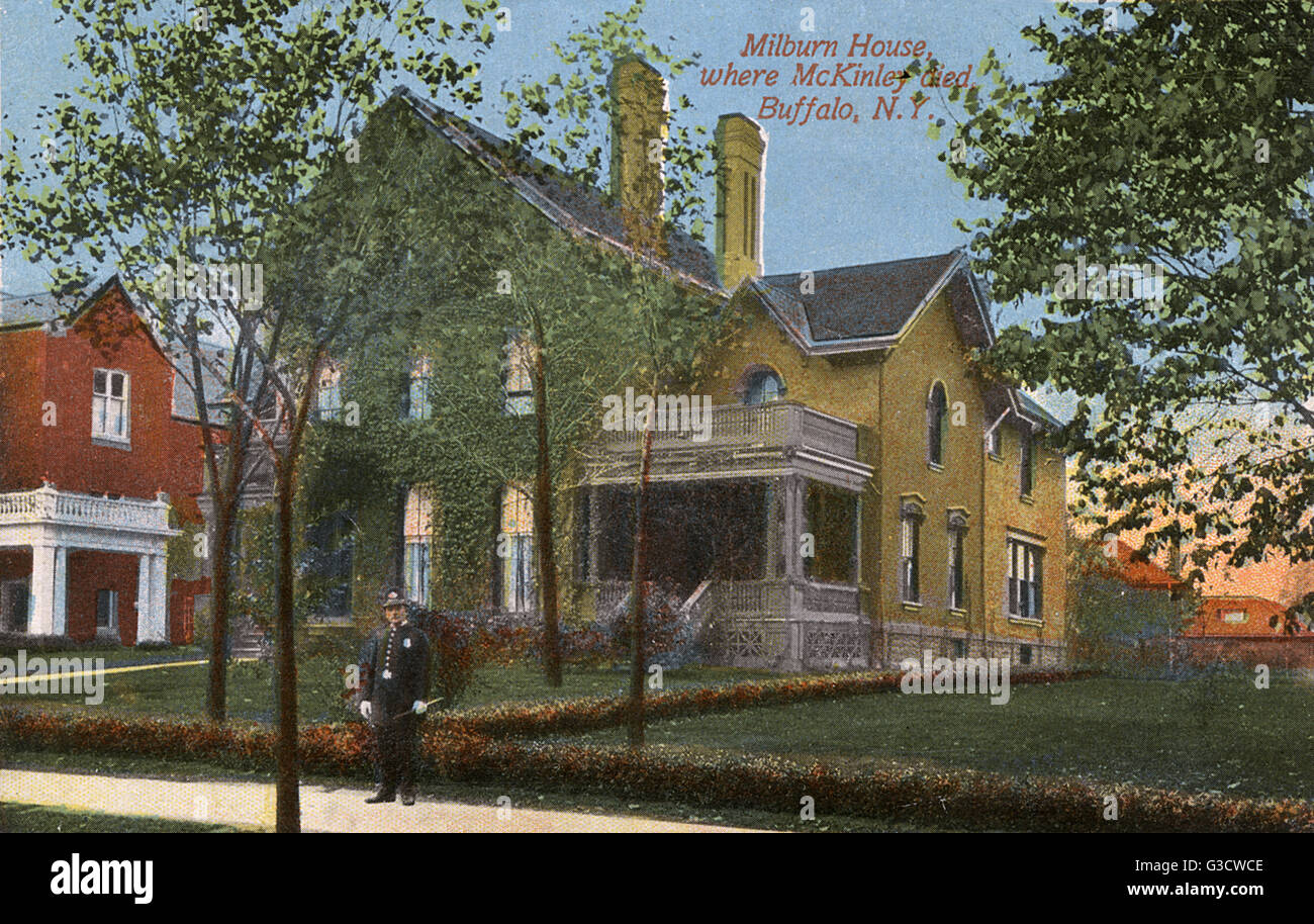 Milburn House, Buffalo, New York State, USA, where President McKinley died on 14 September 1901 after being shot - Stock Image