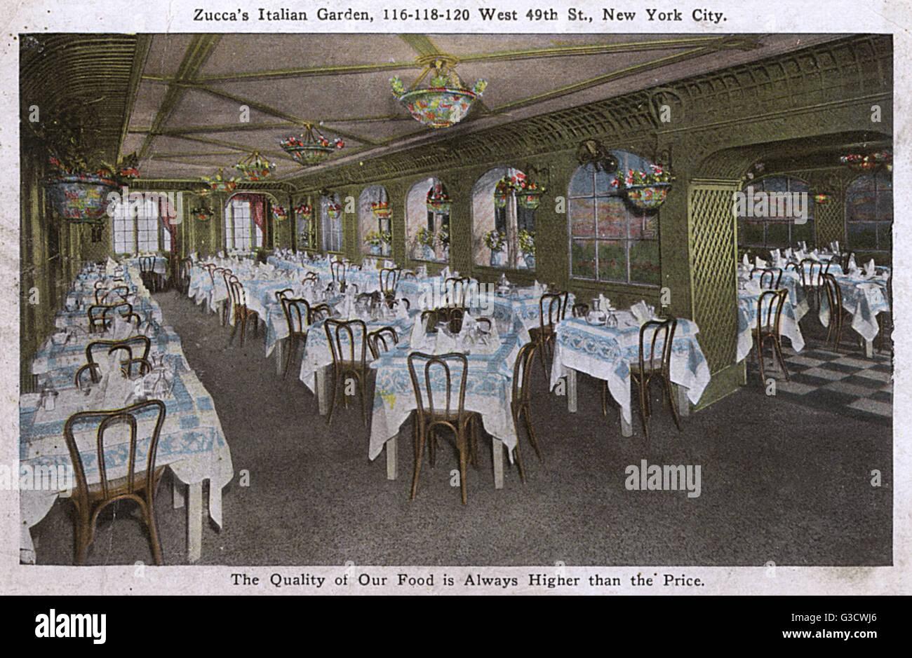 zucca s italian garden west 49th street new york city usa stock