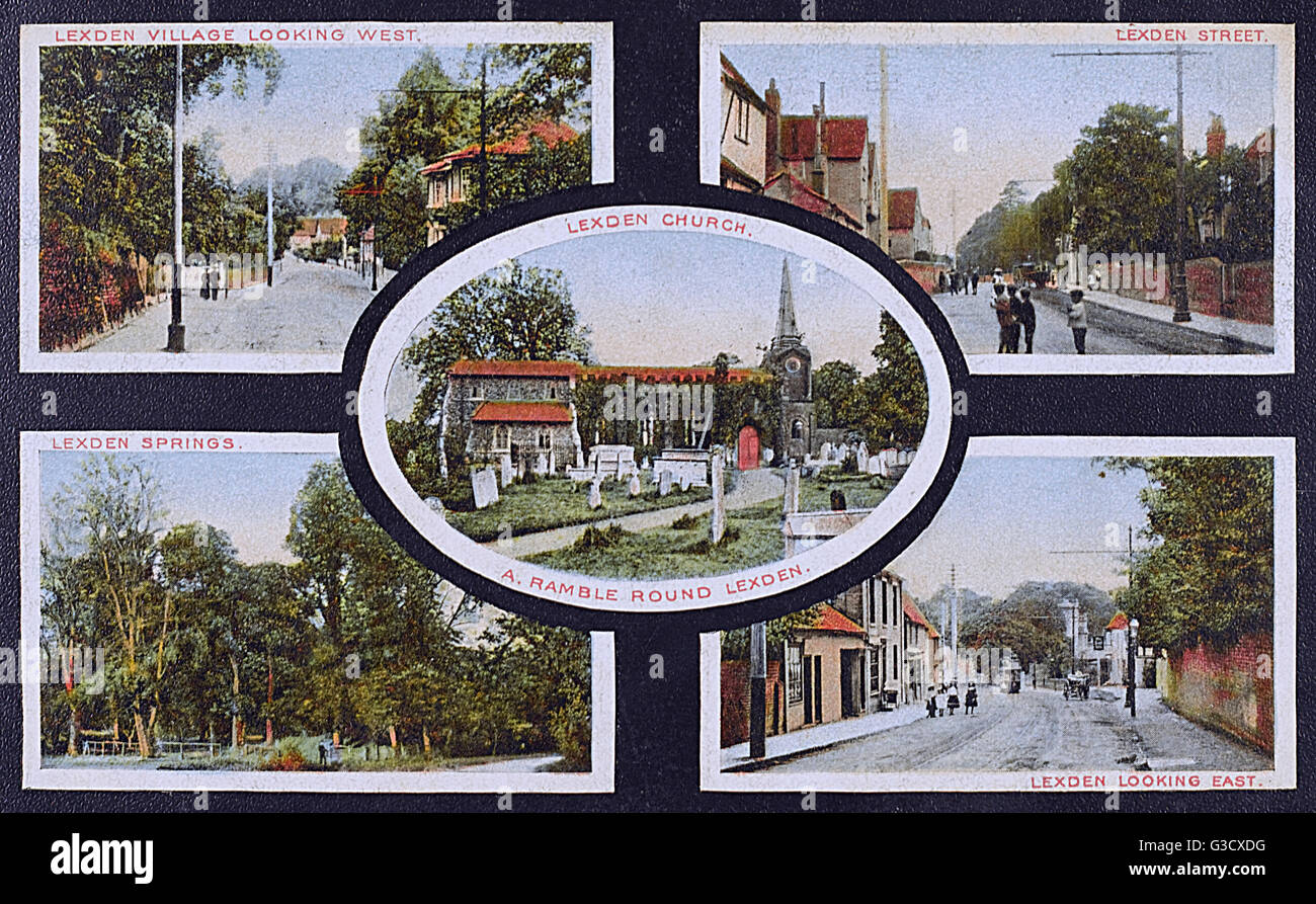 Views to be seen when on a ramble around Lexden, Colchester, Essex.     Date: circa 1905 - Stock Image