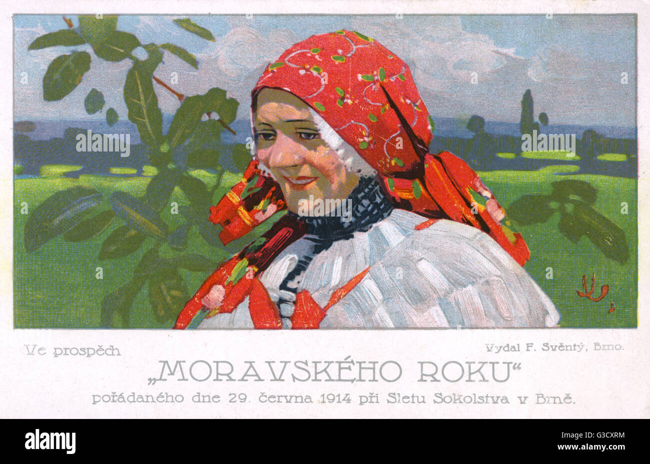 Sokol Rally, Brno, Czech Republic - Moravian Year Festival - held on 29th June 1914     Date: 1914 - Stock Image
