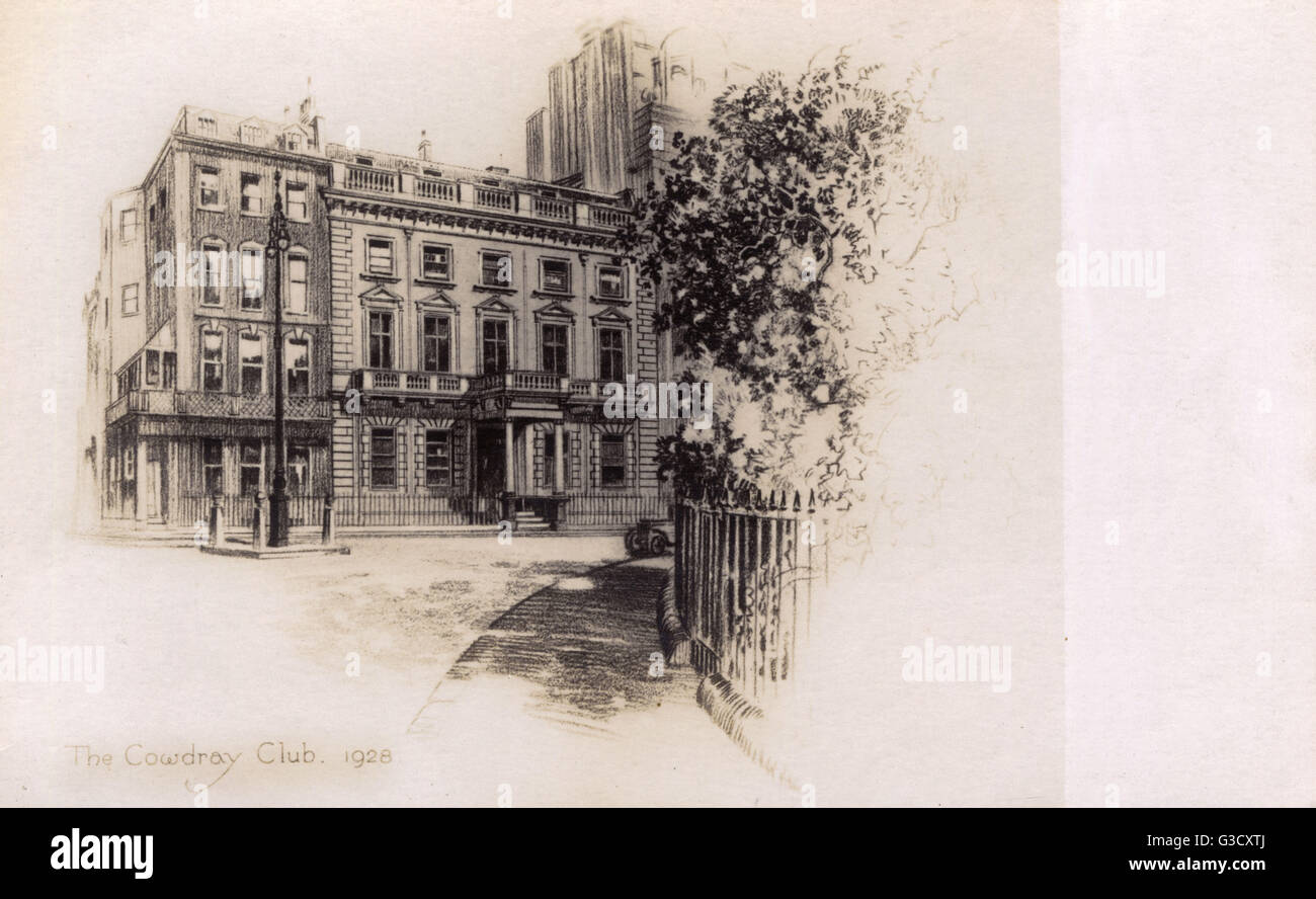 The Cowdray Club, 20 Cavendish Square, London - a Professional Women's Club for members of the Royal College - Stock Image