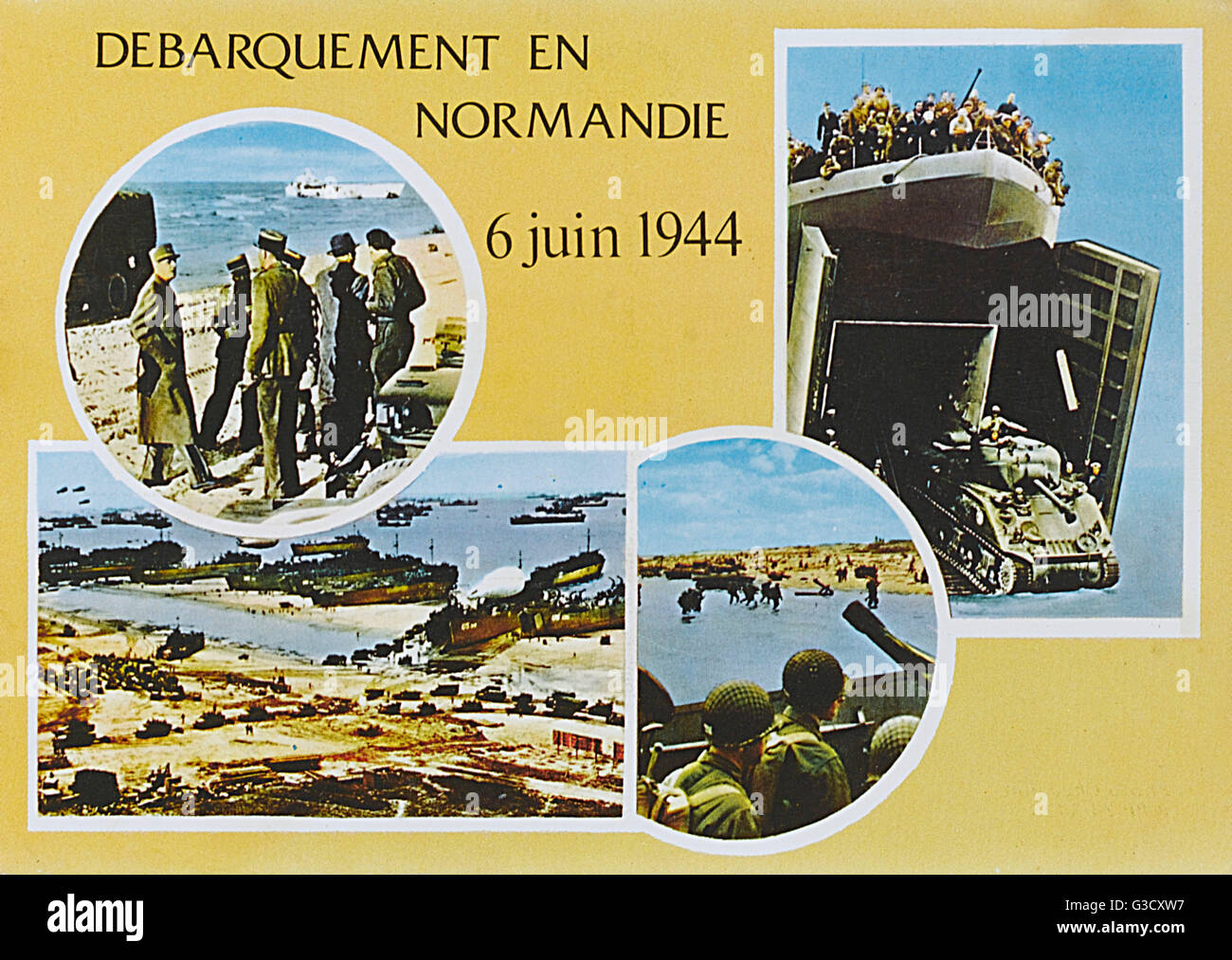 The Normandy Landings - 6th June 1944 - WW2     Date: 1944 - Stock Image