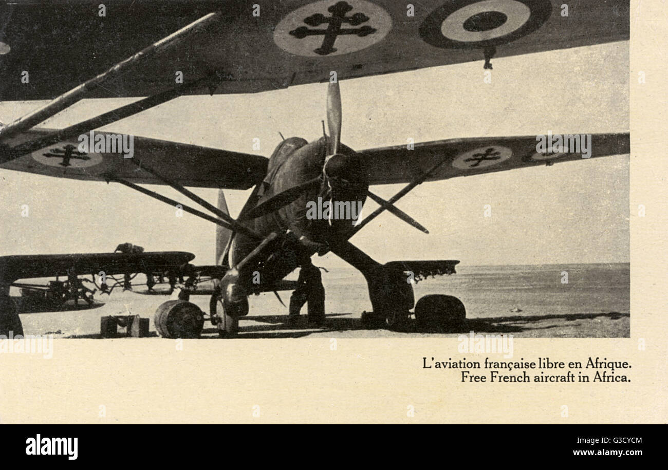 WW2 - Aircraft of the Free French Airforce in Africa     Date: circa 1943 - Stock Image