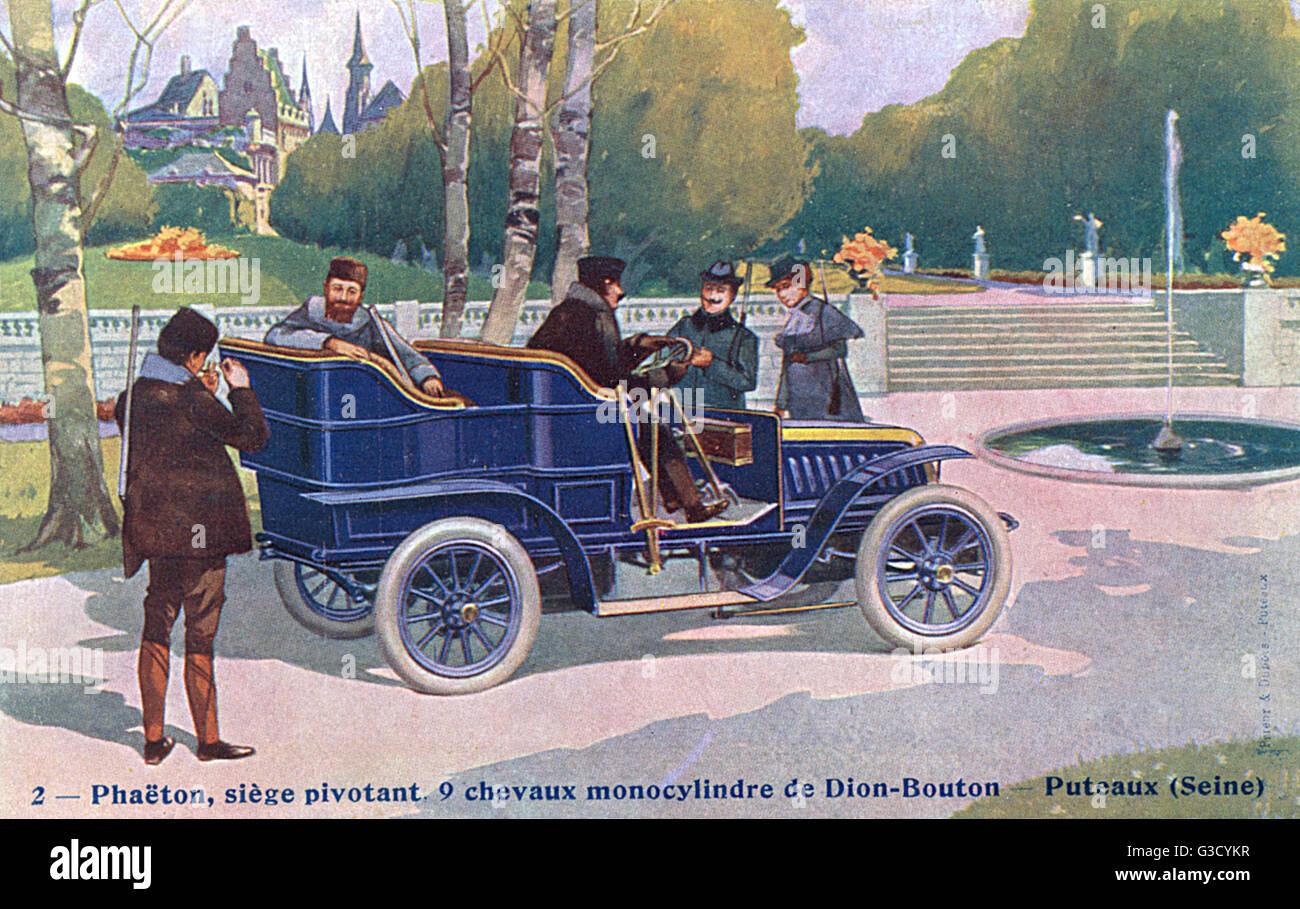 Phaeton automobile by de Dion-Bouton     Date: circa 1907 - Stock Image