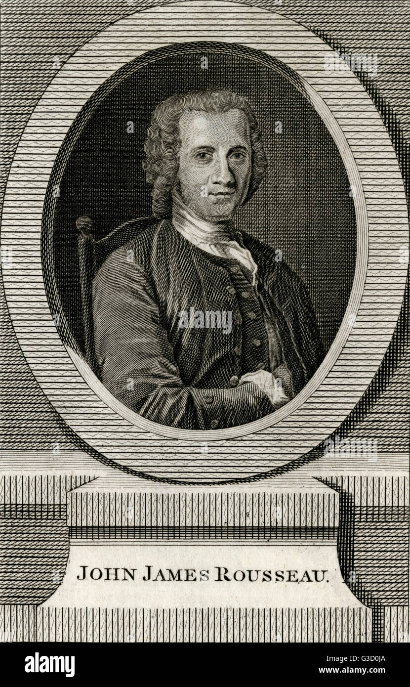 Jean-Jacques Rousseau (1712-1778) - French Philosopher, Writer, and composer of the 18th century.     Date: circa - Stock Image