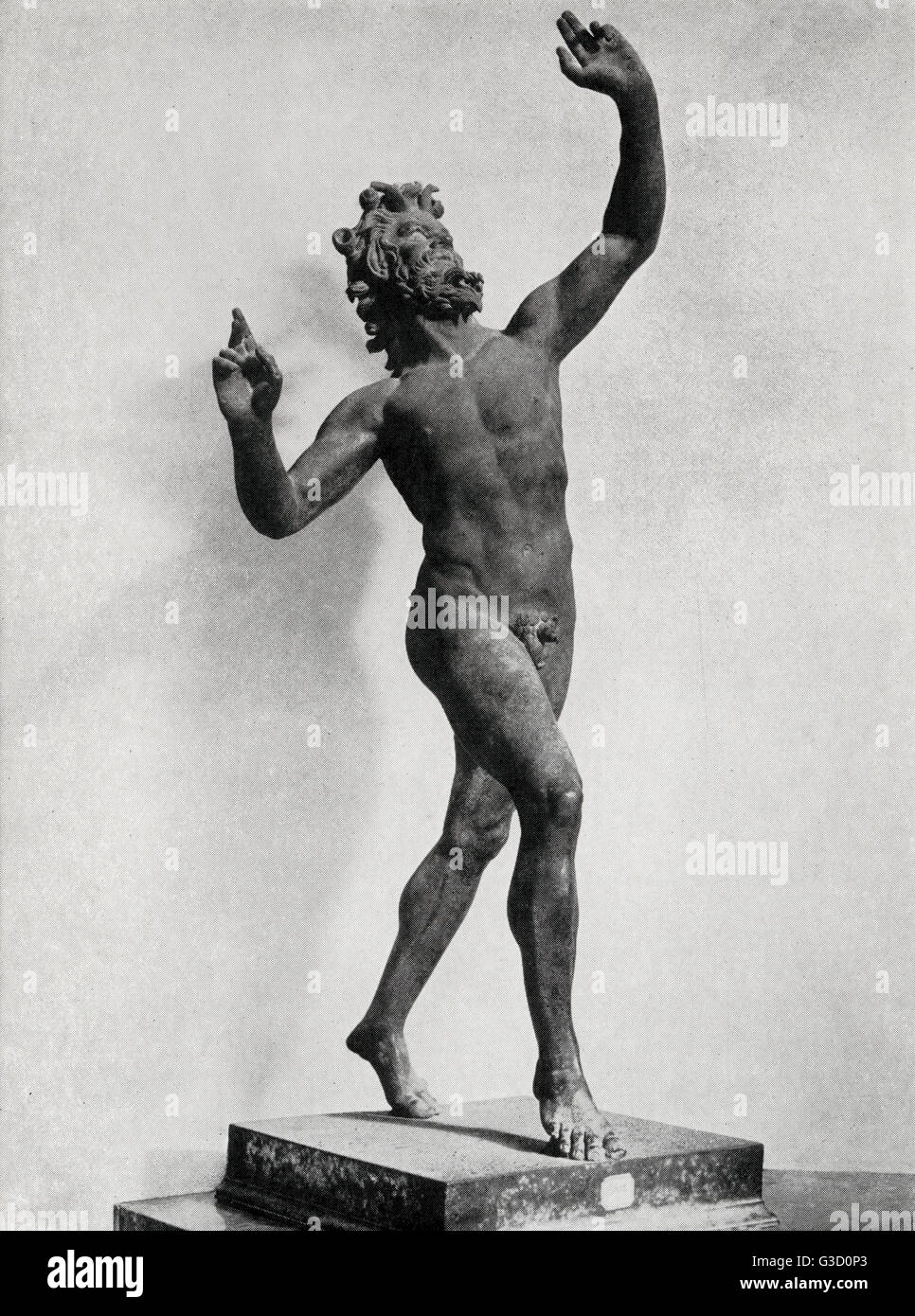 The Dancing Faun or Satyr - Fauns and satyrs were originally quite different creatures: fauns are half-man and half - Stock Image