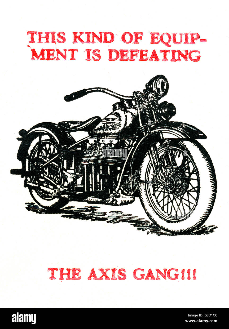 WW2 - Propaganda first day cover - This kind of equipment is defeating the Axis Gang!     Date: circa 1943 - Stock Image