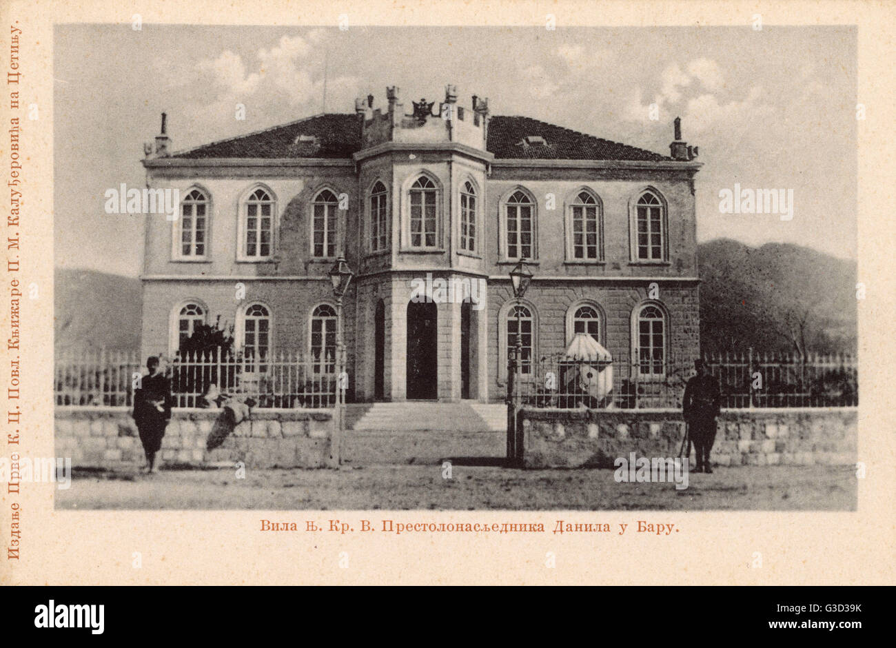 The Villa of Crown Prince Danilo, Bar, Cetinje, Montenegro - later became King Danilo I, who abdicated in 1921 in - Stock Image