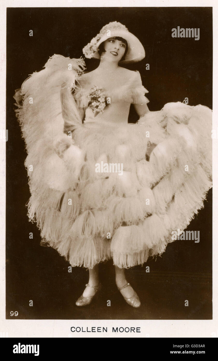 Colleen Moore (18991988) - American film actress and one of the most fashionable stars of the era and helped popularize - Stock Image
