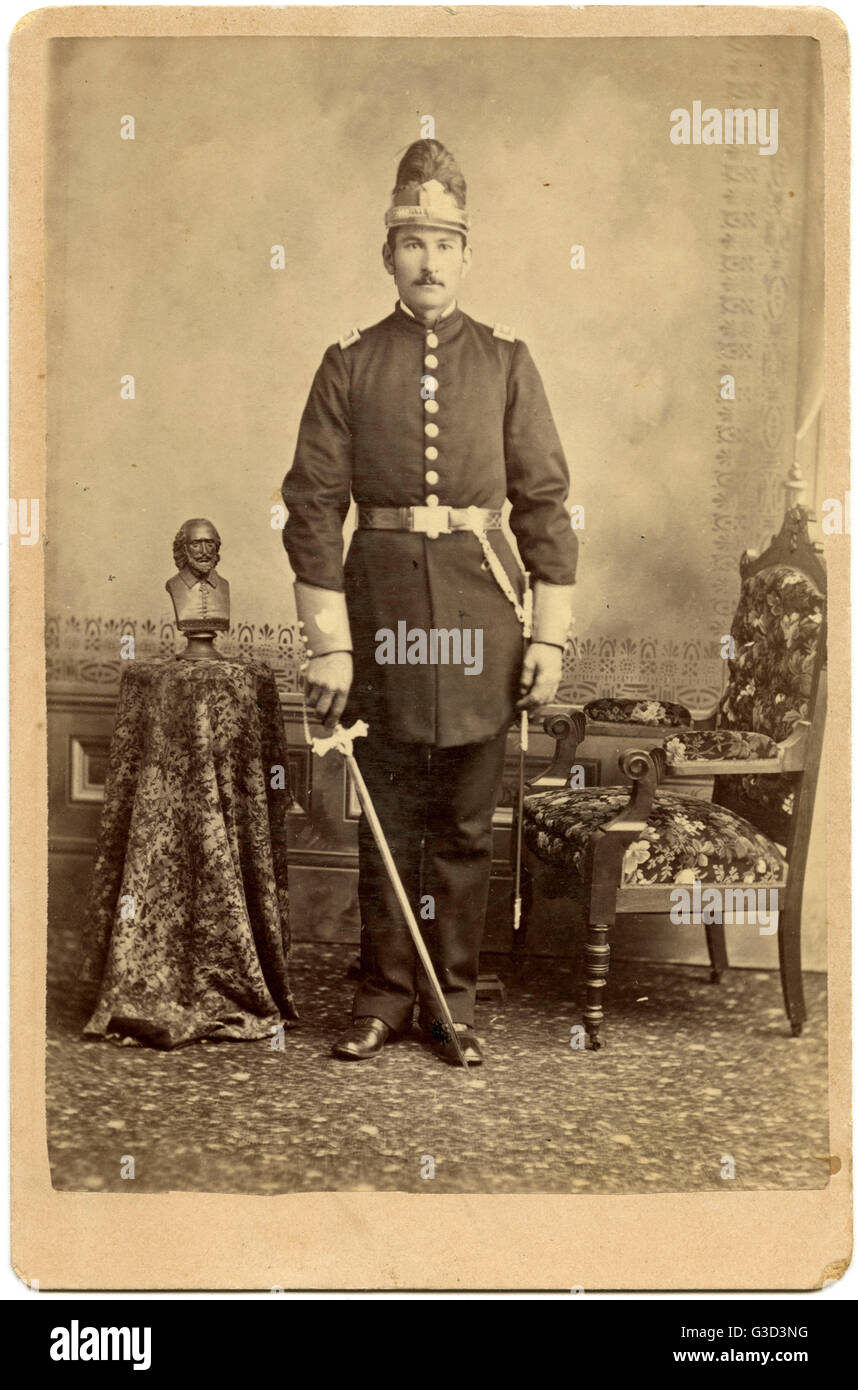 USA - California - Stockton - Man in Knights Templar Uniform     Date: circa 1890 - Stock Image