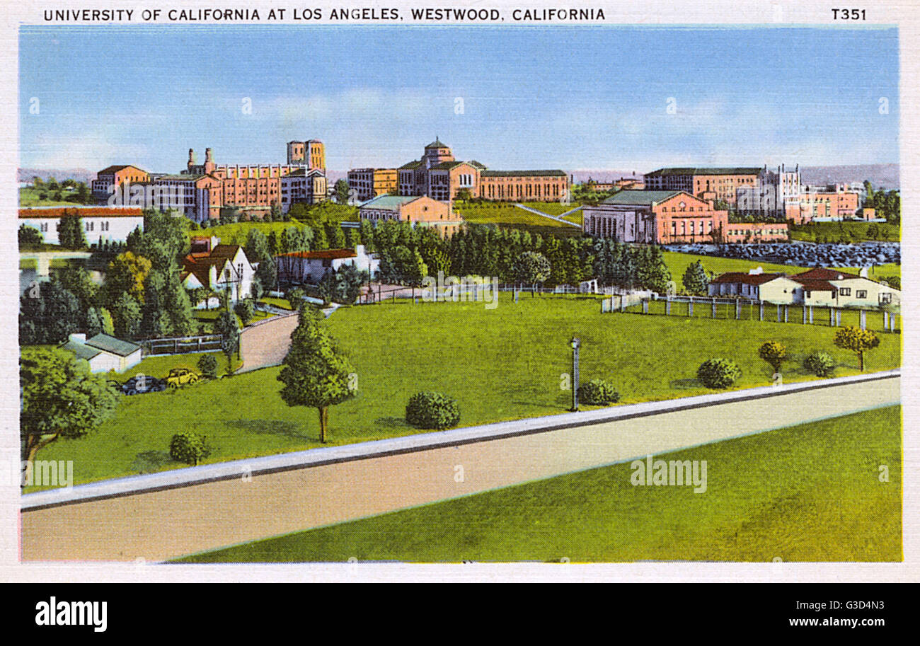 University of California, Westwood, Los Angeles, California, USA.      Date: 1930s - Stock Image