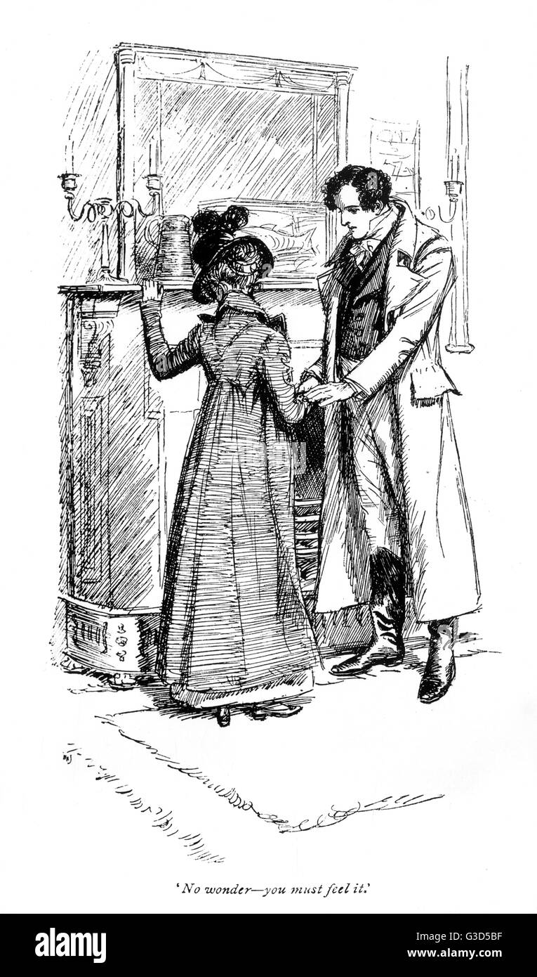 Fanny price and Edmund Crawford     Date: First published: 1814 - Stock Image