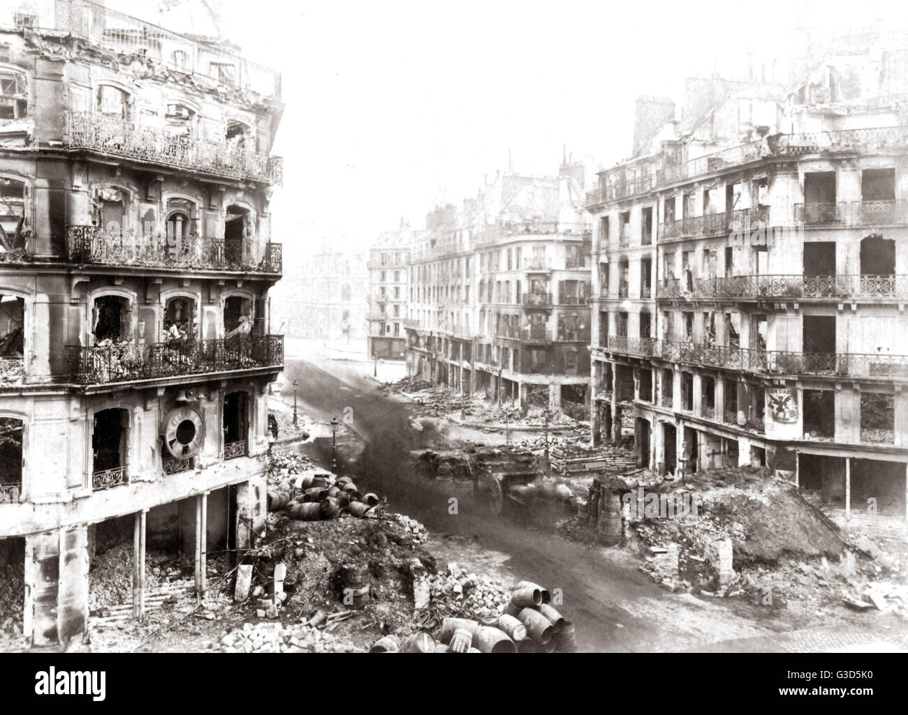 Paris, France, after the Commune, 1871.     Date: 1871 - Stock Image