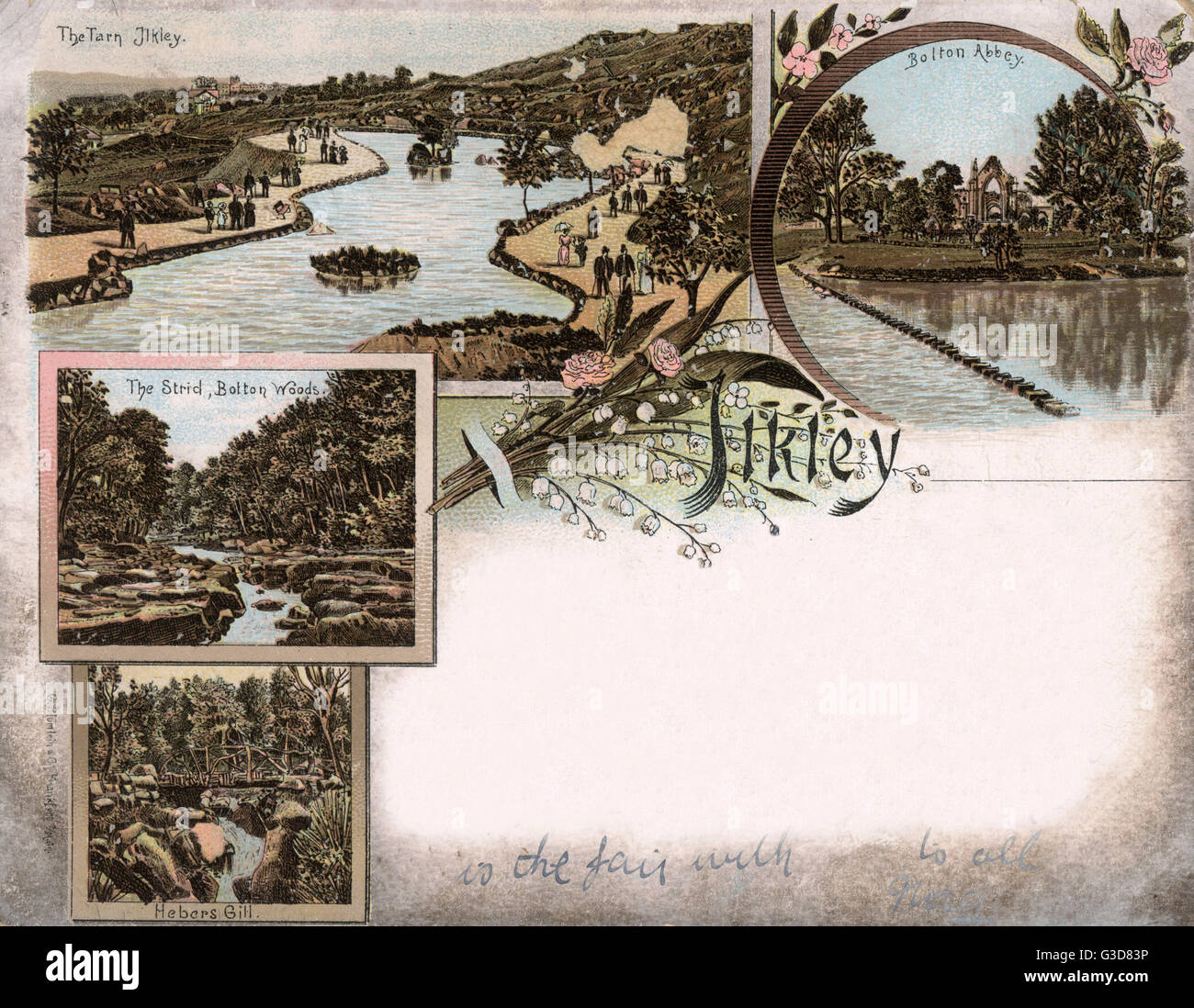 Ilkley - West Yorkshire - Various scenes in the locality including Bolton Abbey, The Ilkley Tarn (small lake), Strid Stock Photo